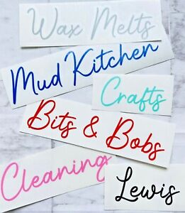PERSONALISED Custom Vinyl Label Decal Name Sticker Cleaning Wax Melts Laundry