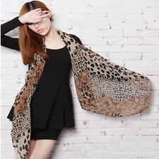 Fashion Women Soft Chiffon Wrap Stole Leopard Print Scarf Scarves Shawl Gifts