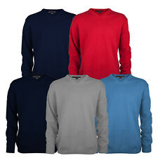 Greg Norman 2018 Mens Golf V-Neck Lambswool Sweater Jumper Pullover
