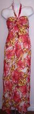 Xhilaration Dress M Tropical Floral Print Halter Style Boho Hippy Maxi Sundress