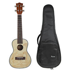 Kmise Spruce Concert Ukulele 23 inch Hawaii Guitar Mahogany Rosewood with Bag
