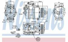 NISSENS Compresseur de climatisation pour BMW Série 5 89116 - Mister Auto