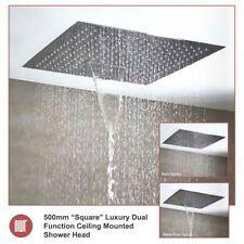 """500mm """"cuadrado"""" cabeza de ducha de lujo de montaje en techo & Cascada (3 ajustes)"""