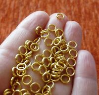 50x Closed Jump Rings 6mm Clasp Connector Soldered Spacer Beads Gold C473