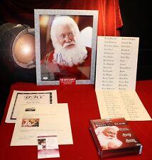 SANTA CLAUSE PROP, Signed TIM ALLEN Autograph, COA, UACC, Frame, Blu Ray DVD set