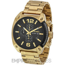 *NEW* DIESEL MENS OVERFLOW CHRONOGRAPH GOLD WATCH - DZ4342 - RRP £229.00