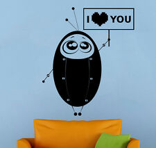 Robot Wall Sticker Retro Vinyl Decal Vintage Atr Childrens Room Wall Decor 22rt