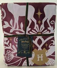 NWT Pottery Barn PB Teen Harry Potter Patronus damask king duvet cover, burgundy