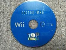 Doctor Who Top Trumps - Nintendo Wii DISK ONLY UK PAL