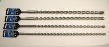 Lot de 4 SDS plus marteau perceuse embouts 10/12/14/16x460mm,4 pointu en Béton Maçonnerie