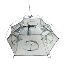 High Quality 6 Side 6 Holes 100x100cm Fold Foldable Fishing Net Trap Shrimp Cage