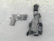 1/6 scale toy LAPD SWAT - 1911 Pistol w/Tac Light & Drop Leg Holster