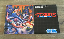 Streets of Rage -- Mega Drive -- Instruction Manual Only