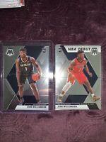 Zion Williamson 2019-20 Panini Mosaic Base #209 & NBA Debut RC #269 Pelicans Lot