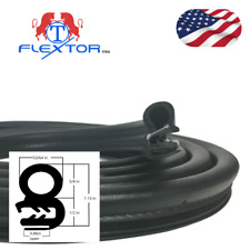 (17ft) Rubber Car Door Seal Weatherstrip Body Mounted Front Left or Right