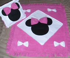 Disney Minnie Mouse Fleece Blanket w Pillow!