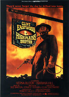"Reproduction ""Clint Eastwood"", Western Poster, High Plains Drifter"