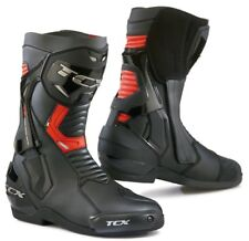 STIVALI BOOTS MOTO SPORT RACING TCX ST-FIGHTER ROSSO RED BLACK TORSION TG 43