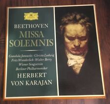 DGG Herbert Von Karajan Beethoven MISSA SOLEMNIS 2707 030 2LP Libretto Stereo NM