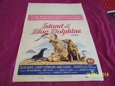 ISLAND OF THE BLUE DOLPINS original 1964 window card movie poster Celia Kaye