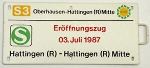 Eröffnungszug 03. Juni 1987 Hattingen (R) - Hattingen (R) Mitte - VVR