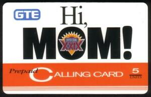 5u 'Hi Mom!' Super Bowl XXIX Football Issue (01/29/95) Phone Card
