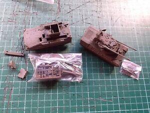 ROCO MINITANKS Fla Rak Pz 1 Roland 11 + Flakpanzer Gepard, 1/87, vgc, 476 & 270