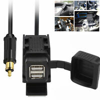 For BMW Motorcycle Dual USB GPS charger Power Socket+EU Plug w/Mounting Bracket