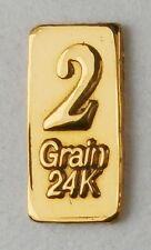 2GN(NOT GRAM) 24K PURE GOLD .999 FINE BENCHMARK STRATEGIC METALS& CERT D26b