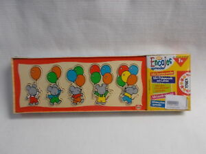 WOODEN PLAY SET 5 DIFFERENT SHAPES - EDUCATION MINI LEARNER x 2 NEW SEALED WRAP
