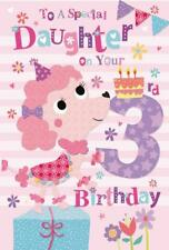 Per UNA FIGLIA SPECIALE 3rd 3 oggi Cane Per Torte & Regali DESIGN Happy Birthday Card