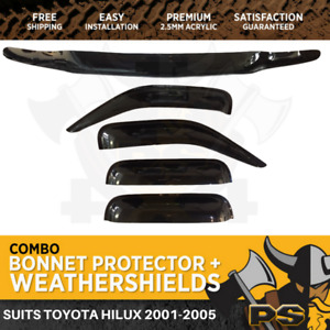 Bonnet Protector & Weathershields to suit Toyota Hilux 2001-2005 Window Visors