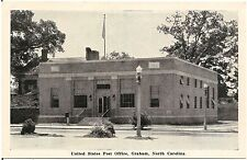 U.S. Post Office in Graham NC Postcard