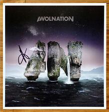 AWOLNATION Megalithic Symphony Aaron Bruno Signed RARE Ltd Ed Litho Poster! Run