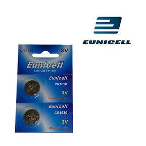 2  x EUNICELL Lithium Knopfzellen Batterien 3 Volt NEU