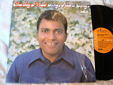 CHARLEY PRIDE-SINGS HEART SONGS-RCA LSP-4617  VG+/VG+  LP