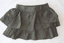 DKNY Girl Dark Olive Green Tiered Ruffle Skirt/Skort size 16 NWT G82359