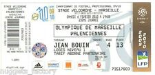 Billet  / Place  OM Olympique de Marseille - OM vs Valenciennes  ( 091 )