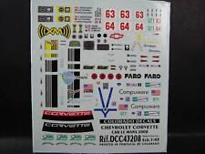 DECALS 1/43 CHEVROLET CORVETTE C6R LM 2008  - COLORADO  43208