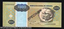 ANGOLA 1 KWANZAS P135 1995 *Specimen* ANTELOPE UNC AFRICA PORTUGAL BILL BANKNOTE