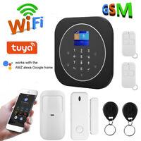 WIFI GSM Wireless Home Security Burglar Alarm System Kit for Alexa Google Home