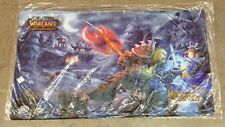 War of Warcarft WoW TCG Heroes of Azeroth Orc Warrior vs Human Mage Playmat New