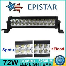 14inch 72W Epistar LED Work Light Bar Combo Beam Offroad Jeep SUV ATV Truck Lamp
