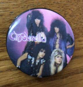 "Vintage 1987 Cinderella Concert Pin 1.5"" 1980s Hair Band Wow"