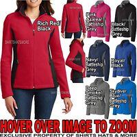 Ladies Soft Jacket with Pockets Two Tone Warm Polar Fleece Women S-XL 2X, 3X, 4X
