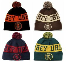 NEW Obey Crowned Pom Cap Hat Knit Beanie