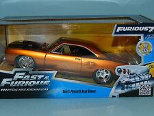 Jada 1/24 Dom's Plymouth Road Runner Metallic Orange/Black Fast 'n' Furious MiB