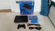 PlayStation 3 super slim, ps3, negro, 1tb memoria, conjunto completo, embalaje original!
