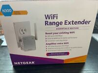NETGEAR N300 WIFI Extender~New In Box~Dual External Antennas~Wall Plug In~EX2700