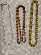 Vintage Natural Honey Butterscotch Amber Beads Necklace Lot Of 3 Jewelry